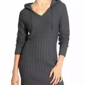NWOT Athleta Borealis Hoodie Sweater Dress Grey S